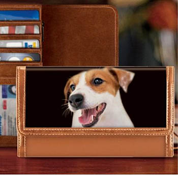 New Jack Russell Terrier Dog Zippered Pouch /& Check Book Wallet  5 Terriers Dogs