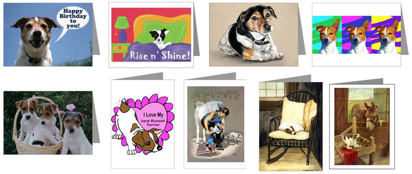 Jack Russell Greeting Cards Notecards And Postcards