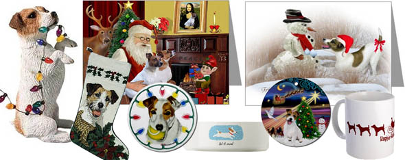 jack russell christmas - Jack Russell Terrier Gifts, Art, Cards, Collectibles