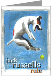 Jack russell terrier gifts art cards collectibles jack russell terrier cards bookmarktalkfo Image collections