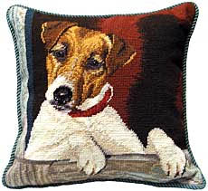 jack russell tapestry pillow
